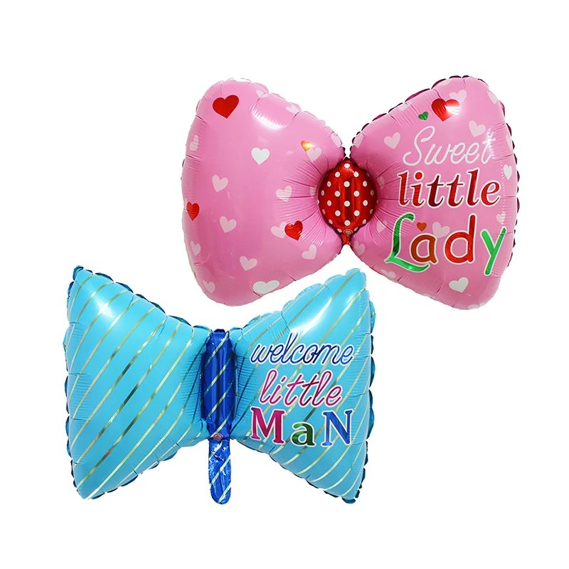 Baby bathing bow tie aluminum foil balloon baby boy girl birthday balloon inflat