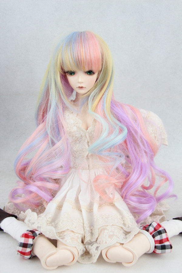 BJD/SD 1/3 1/4 1/6 Doll Wigs Colorful curly hair bangs (excluding dolls) встраиваемый светильник n1555 old gold donolux