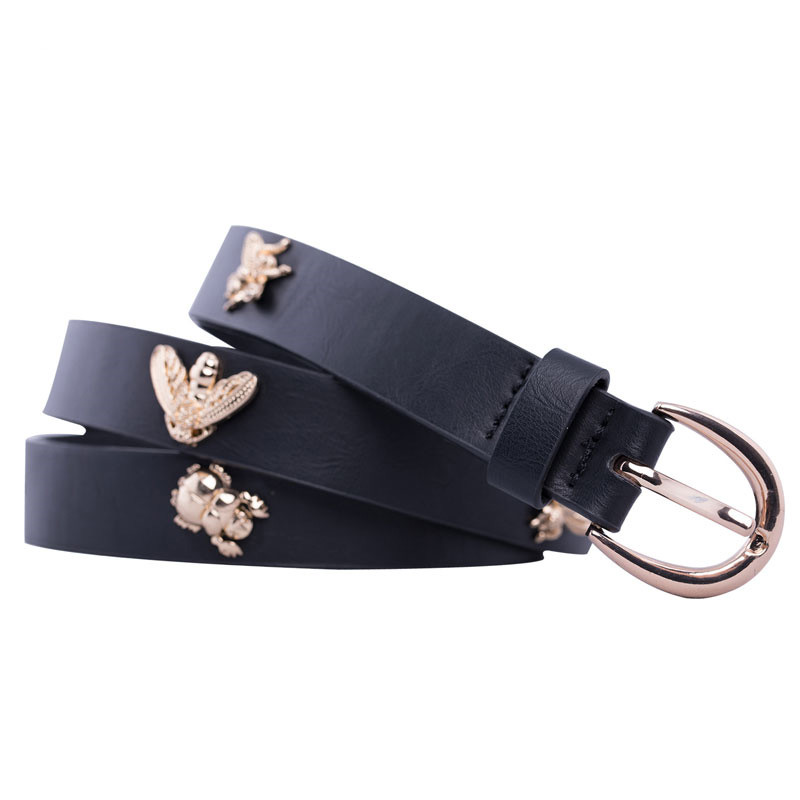 Womens Bees Belt 2019 Trending Designer Jeans Strap Belts For Women 39 s Dress Stylish PU Leather Waistband Jeans Girdle in Women 39 s Belts from Apparel Accessories
