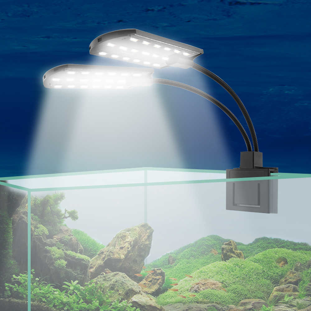 Detail Feedback Questions About Double Head Aquarium Led Lighting