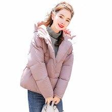 Winter New Cotton Clothing Women 2019 KoreanVersion of the Warm Jacket Slim Thickening Hooded Women's Cotton Coat цена 2017