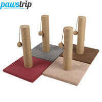 pawstrip Pet Cat Scratcher Toy Sisal Rope Ball Toy For Cat Interactive Cat Climbing Board Pet Scratching Post 30x30x37cm