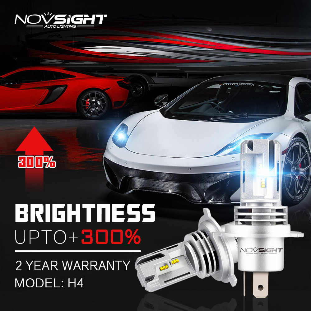 Novsight New Style Car Light Bulbs 1:1 design 55w 10000lm 6000k White IP68 Waterproof  H4 H7 H8 H11 9005 9006  LED Car Headlight