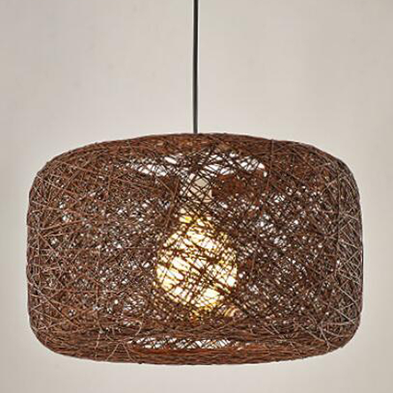 Bamboo personality living room bedroom pendant light dining room dining room light bulb American woven ball rattan Art FG5 lo10Bamboo personality living room bedroom pendant light dining room dining room light bulb American woven ball rattan Art FG5 lo10