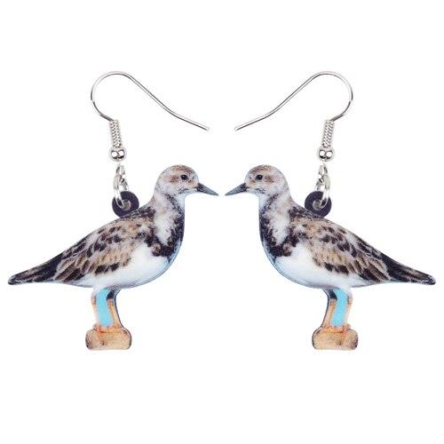 Turtle Dove Bird Earrings Dangle