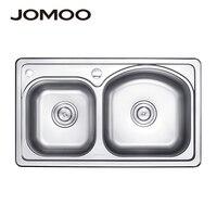 JOMOO kitchen sink stainless steel double bowl above counter or udermount sinks vegetable washing basin thick sinks kitchen sink