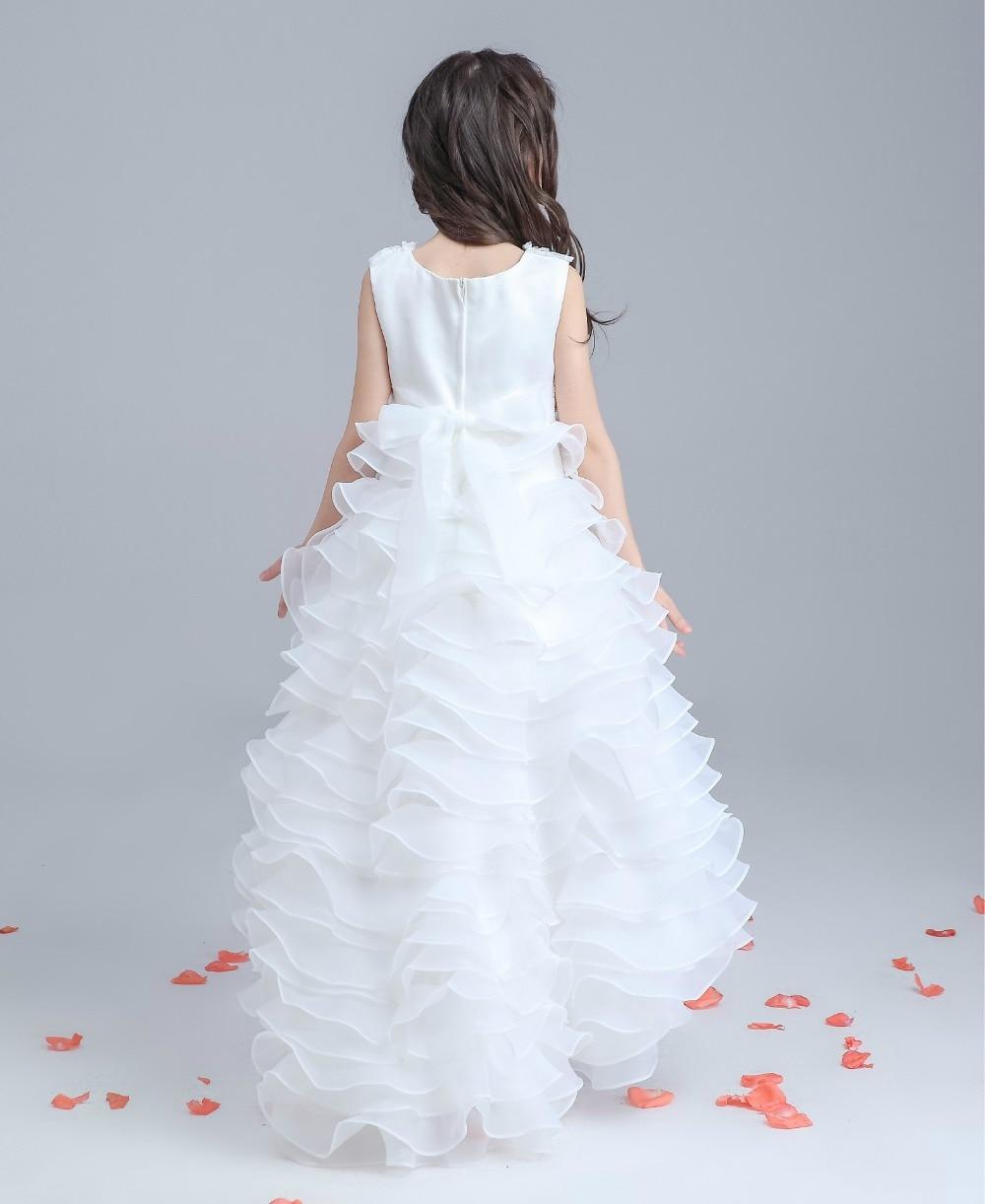 Girl Tail Dress Red White Kids Trumpet Mermaid Clothing Formal ...