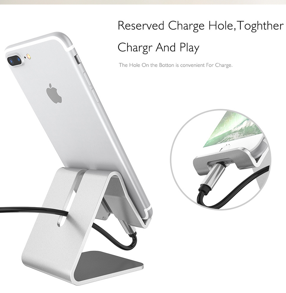 WolfRule Universal Aluminum Metal Mobile Phone Holder For Xiaomi Redmi 7A 6A 6 8A 8 Note 7 8 Pro Support Phone Stand Desk Holder
