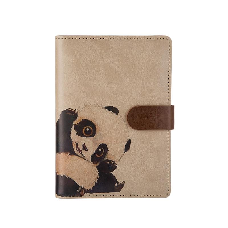 Office & School Supplies A6 Pu Leder Abdeckung Planer Notebook Nette Panda Tagebuch Buch Übung Zusammensetzung Bindung Hinweis Notizblock Geschenk Schreibwaren üBerlegene Leistung