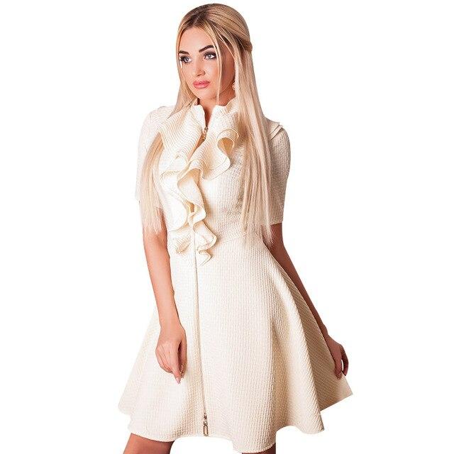2017 New Fashion Big Size Frauen Kleid Fett MM Lose Falten kleider ...