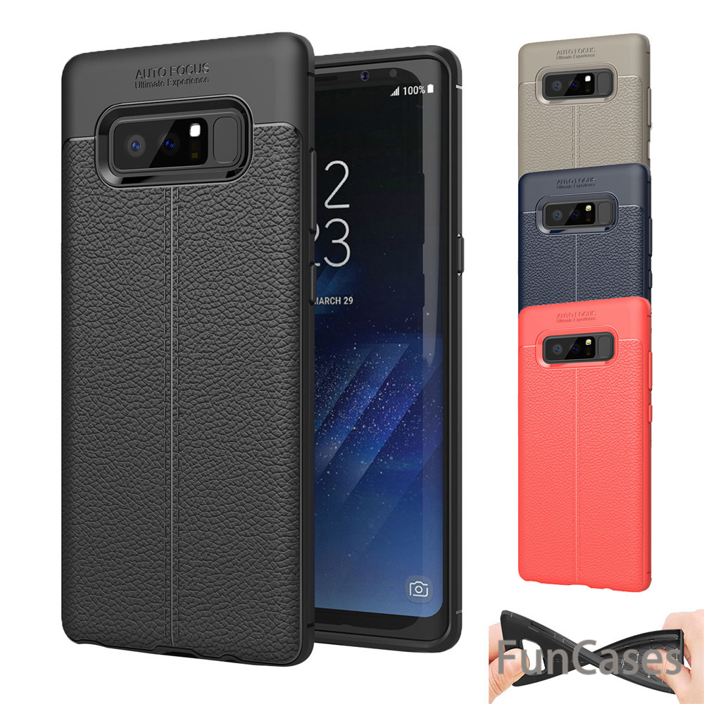 For Samsung Galaxy Note 8 Case Luxury Leather TPU Silicone back Cover Case For Samsung Galaxy
