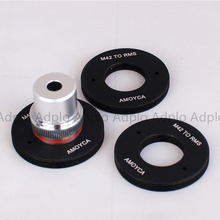 ADPLO Inside Thread: RMS (20mm) Lens Adapter Suit For RMS Royal Microscopy Society Lens to M42 Mount Inside Thread rms