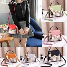 купить Luxury Women PU Leather Shoulder Bag Ladies Handbags Quality Plaid Messenger Bags Female Small Tote Crossbody Bag bolsa feminina дешево