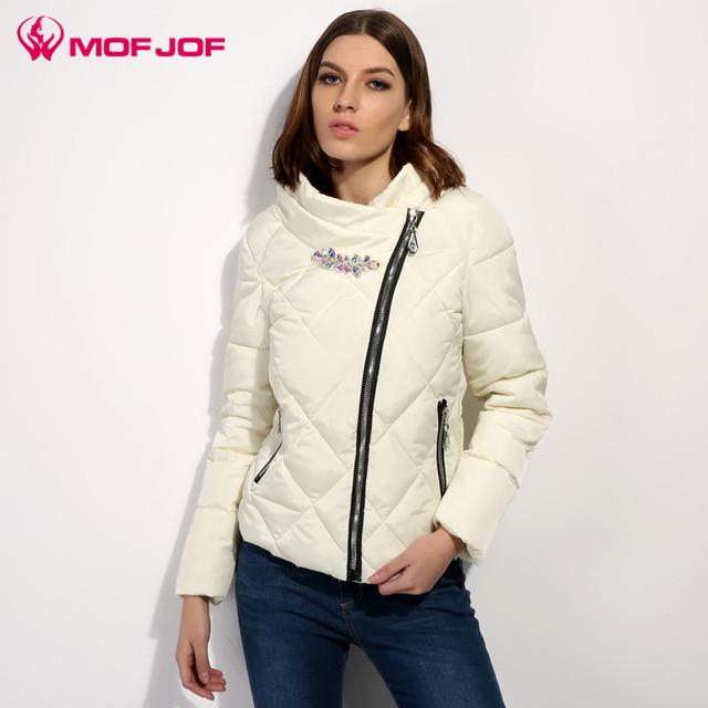 Mofjof mulheres primavera jaqueta outwear quente casaco jaqueta de algodão acolchoado das mulheres clothing manteau femme cristal fivela