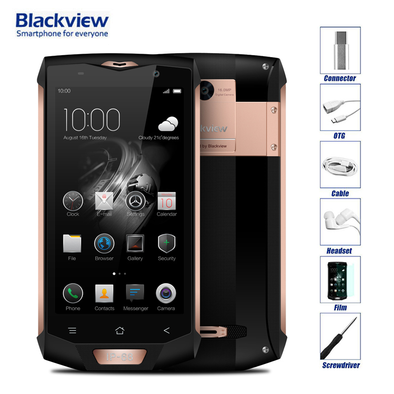 Blackview BV8000 Pro Waterproof IP68 Android 7.0 4G LTE Unlocked Cell Phone MTK6757 Octa Core 16MP Camera 6GB RAM 64GB ROM OTG