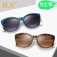 MX Vintage Round Sunglasses Women Cat Eye 2019 Brand New Fashion Leopard S1903