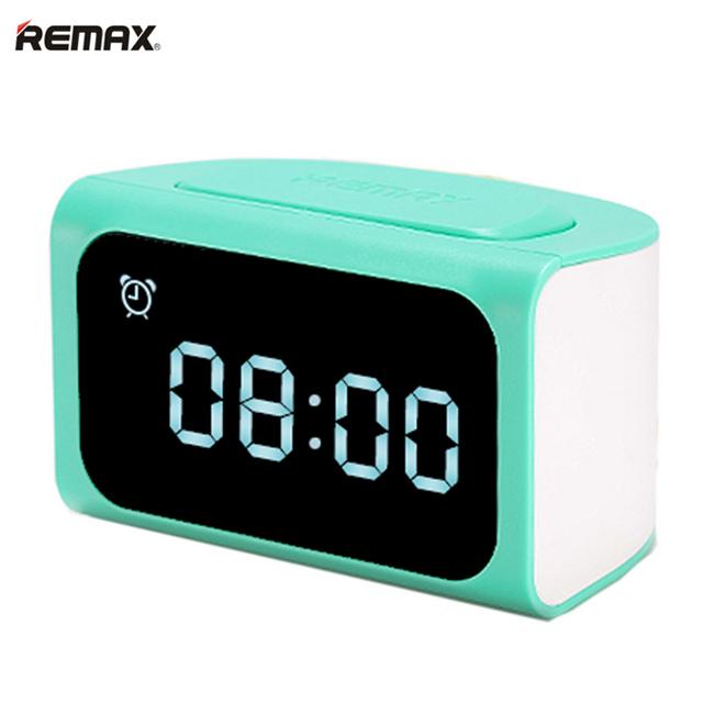 Remax eletrônico despertador com 4 portas usb de carregamento do telefone móvel docking Station Carregador de Mesa USB HUB 2.1A EUA UK Plug UE