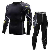 New Model Thermal Underwear Men Sets Compression Sweat Quick Drying Long Johns fitness bodybuilding shapers cheap ANJOYFREEDOM 2000 Stretch Spandex