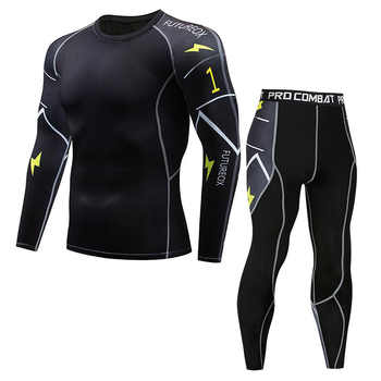 New Model Thermal Underwear  Men Sets Compression Sweat Quick Drying Long Johns fitness bodybuilding shapers - DISCOUNT ITEM  40% OFF All Category