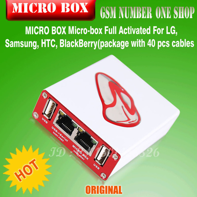 2016 NEW 100% Original MICRO BOX Micro-box Full Activated For Samsung For LG (package with 35 pcs cables) free shipping
