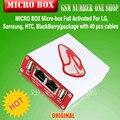 2016 NUEVO 100% Original CAJA MICRO Micro-box Activada Completo Para Samsung Para LG (paquete con 35 unids cables) envío gratis