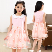 2016 A-line Rushed Dress Summer High-grade Wedding Dresses Children Embroidered Party Dresse Bridesmaid Kids Clothes 110-150cm