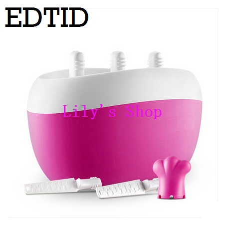 Three holes Popsicle ice cream machine fruit juice machine home icecream ice lolly maker without electricity cool children gift good feedback high quality machine for popsicle ice lolly machine