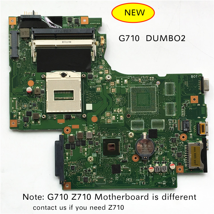 Free Shipping New For Lenovo G710 DUMB02 UMA Main Board REV:2.1 Laptop Motherboard