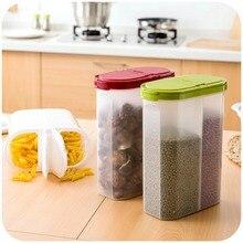 Mealivos Plastic Separated Seal Cans Grains Cereals Storage Boxes Kitchen Large Snacks Transparent Tanks