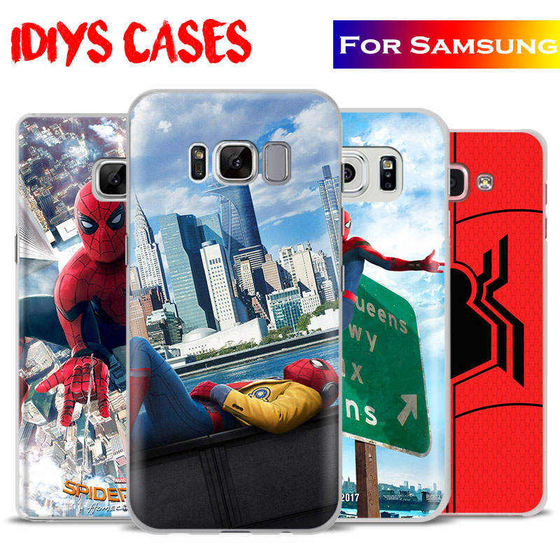 SpiderMan Homecoming 2017 Film Phone Case Cover For Samsung Galaxy S4 S5 S6 S7 Edge S8 s9 Plus Note 8 2 3 4 5 A5 A710 J5 J7 2017