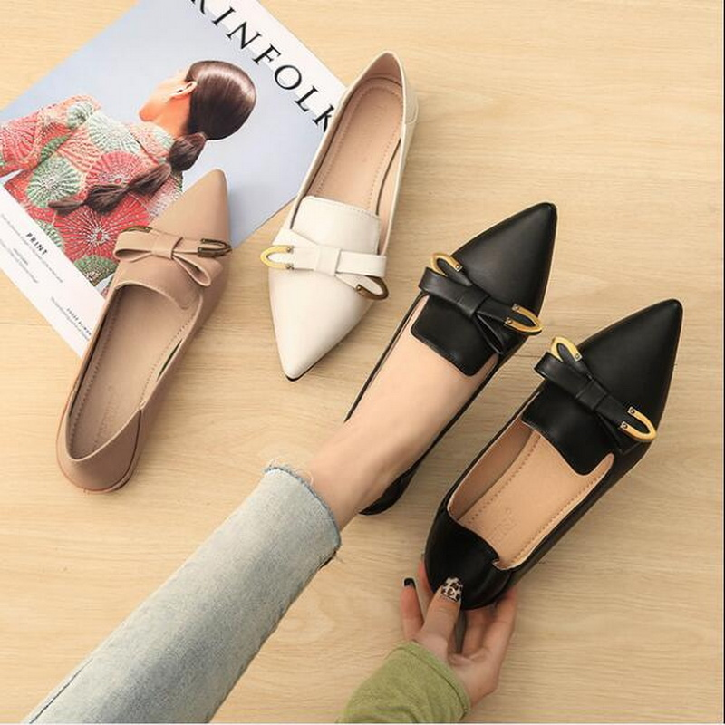 2019 Spring And Summer Women Flat Shoes Women Fashion Loafers  Boat Shoes Casual Free Shipping