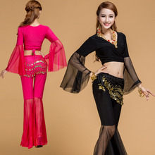 HOT SALE !! 2017 New Sexy Belly Dance Costume Set 3pcs (Top+Pant+Belt) Bollywood/Indian Dance Costumes Dancewear for women
