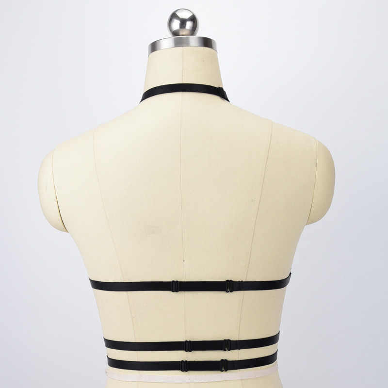 Белый подвязки из полиэстера сексуальный укороченный топ нижнее белье для бондажа жгут 90-х открытый грудь клетка бюстгальтер Harajuku стиль Свадебные Подвязки O0555
