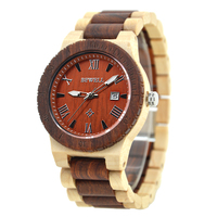 BEWELL Top Luxury Brand Wood Quartz Watch For Man Waterproof Fashion Casual Wristwatch Relogio Masculino Paper