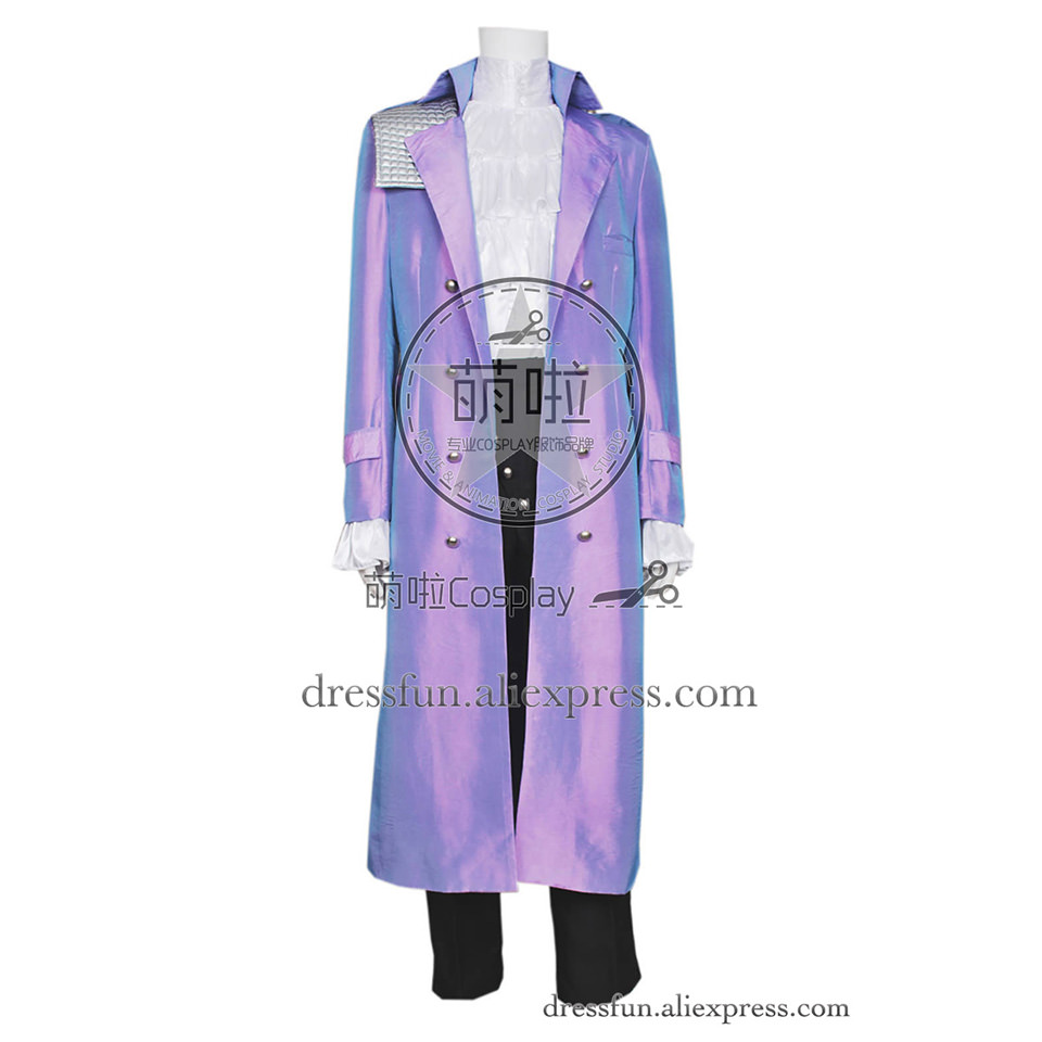 Purple Rain Cosplay Prince Rogers Nelson Costume New Uniform Suit Outfits Coat Full Set Halloween Fashion Party Fast Shipping