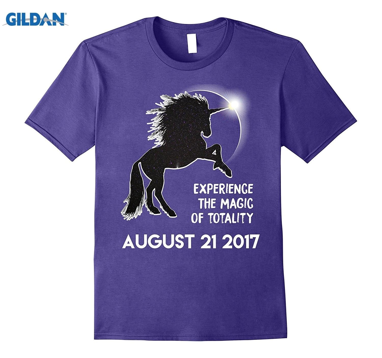 GILDAN Magical Galaxy Unicorn Total Solar Eclipse T-Shirt Totality glasses Womens T-shirt summer dress T-shirt
