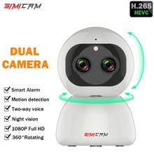 Wireless WiFi Camera 1080p ip camera Smart H.265 ptz Dual lens Zoom Full HD Night vision Home Security Surveillance CCTV Network цена в Москве и Питере