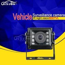 8 LEVOU Ao Ar Livre Sony CCD câmera de Visão Traseira de Metal Mini Câmera Invertendo 120 Degree Wide Angle 600TVL/700TVL 4 Pin angalog Câmera Para Ônibus