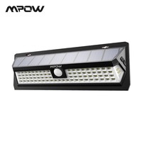 Mpow CD124 80 LED Solar Light 120 Degree Sensing Angle Outdoor Light 3 Adjustable Lighting Time For Garden Driveway Yard Garage