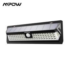 Mpow CD124 80 светодио дный Солнечный свет 120 градусов угол зондирования открытый свет 3 регулируемое время освещения для сада подъездных дорожек двор Garage