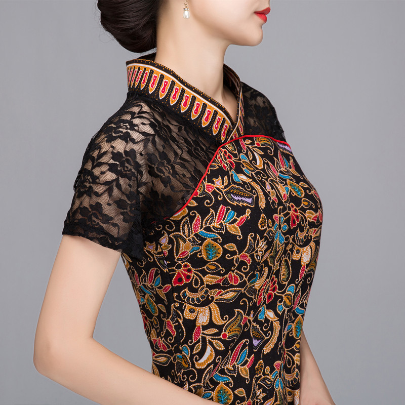 93dc1d37169f3 US $20.16 45% OFF|Brand Designer 2018 Summer New Women Cotton Linen Shirt  Top Chinese Style Lace splicing Blouse Tradition Flower Frock -in Blouses &  ...