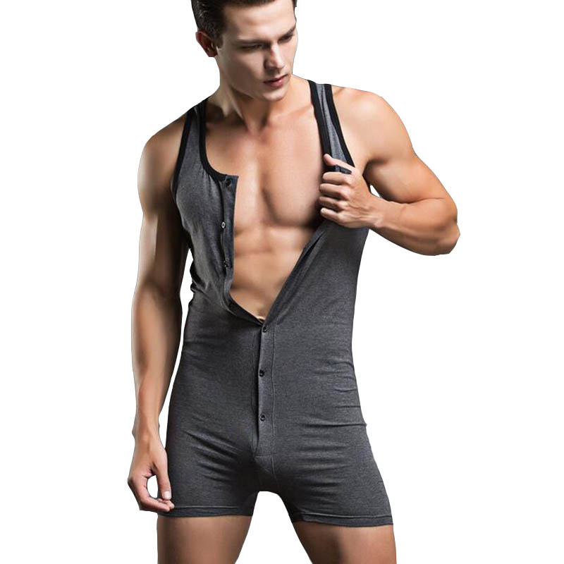 Male Bodysuit Shaper Cotton Mens Underwear Onesie Faja Hombre Body Suits Sexy Joint Clothing Sleepwear Shapewear Mens Sexy Ones