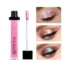 FOCALLURE Metal Líquido 10 Cores Da Sombra de Maquiagem Brilho Sombra de Olho Líquido À Prova D' Água Beleza cosméticos TSLM2 lapis de olho