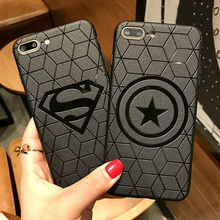 Marvel Avengers Captain America Shield Superhero Case for iPhone 6 6s 7 8 Plus X 10 Silicone Rubber Cover Ironman Comic capinhas