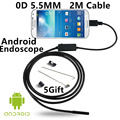 Mini 5.5MM 2M USB Endoscope P67 Waterproof With 6LED Inspection Pipe Camera Borescope Tube Android Endoscope