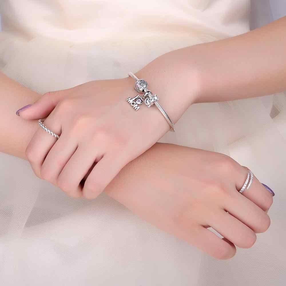 JewelryPalace אהבת אמא 925 כסף סטרלינג חרוזים קסמי כסף 925 מקורי עבור צמיד כסף 925 מקורי חרוז תכשיטי ביצוע