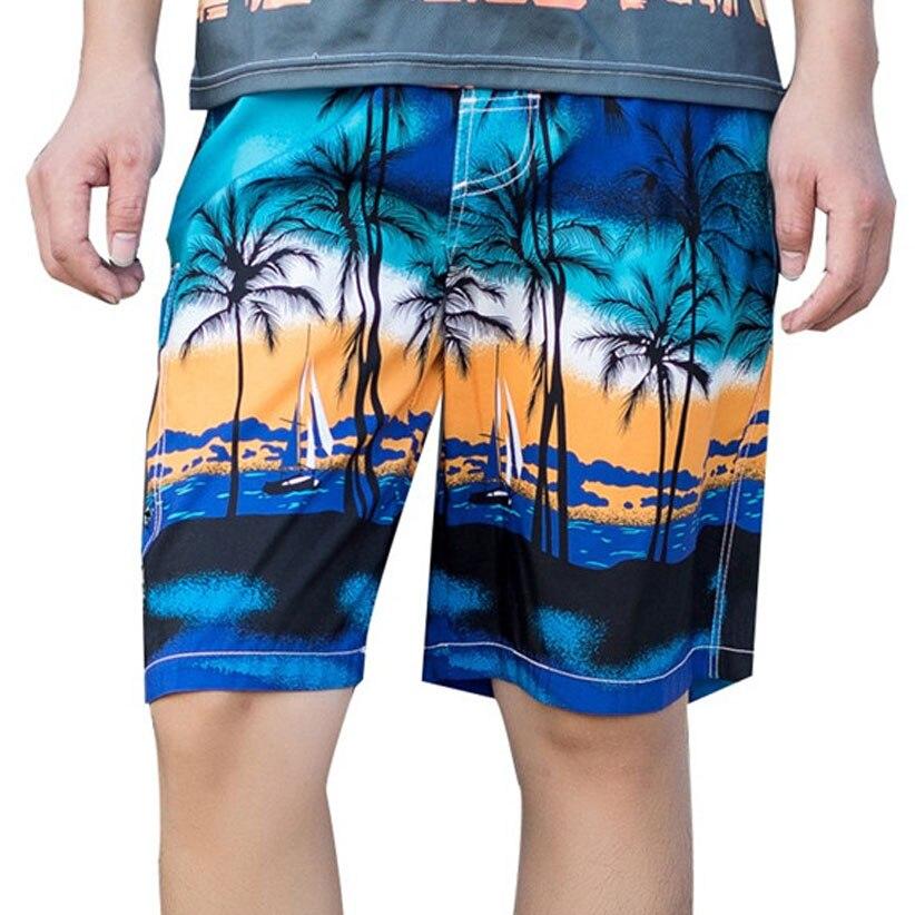 Hawaii Printing Men   Board     Shorts   Casual Summer Quick Dry Beach   Shorts   Knee-Length Man Straight Pants Plus Size M-6XL 90110