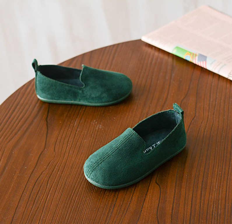 Çocuk Eğlence Mokasen Yumuşak Taban Vintage Espadrilles Slip-on tek ayakkabı Bebek veya Erkek Kız moccasin-gommino Boyutu 22 -33