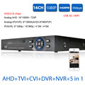 XMEYE 1080N AHD 720 P DVR HDMI 1080 P 16CH 16ch 1080 P DVR NVR para AHD seguridad/cámara IP onvif CCTV Dvr USB 3g Wifi DVR