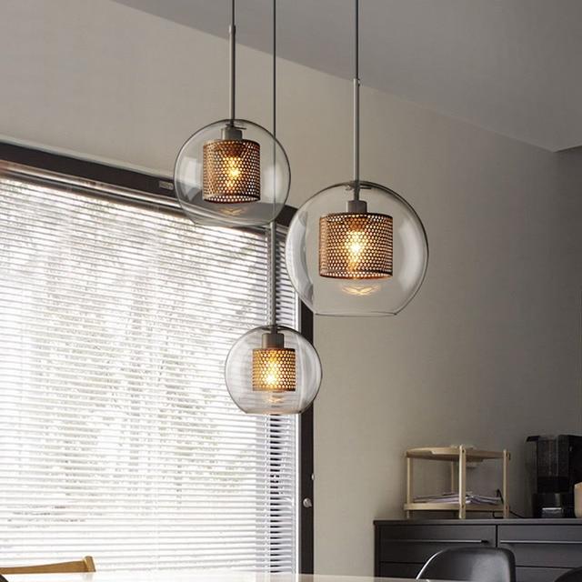 Glass Lampshade Pendant Lights